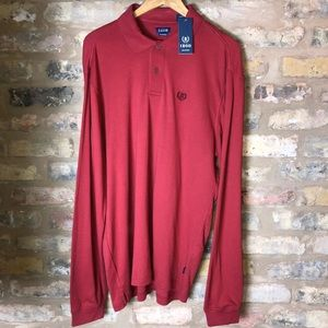 Men's IZOD uniform Long sleeve Polo shirt XLARGE